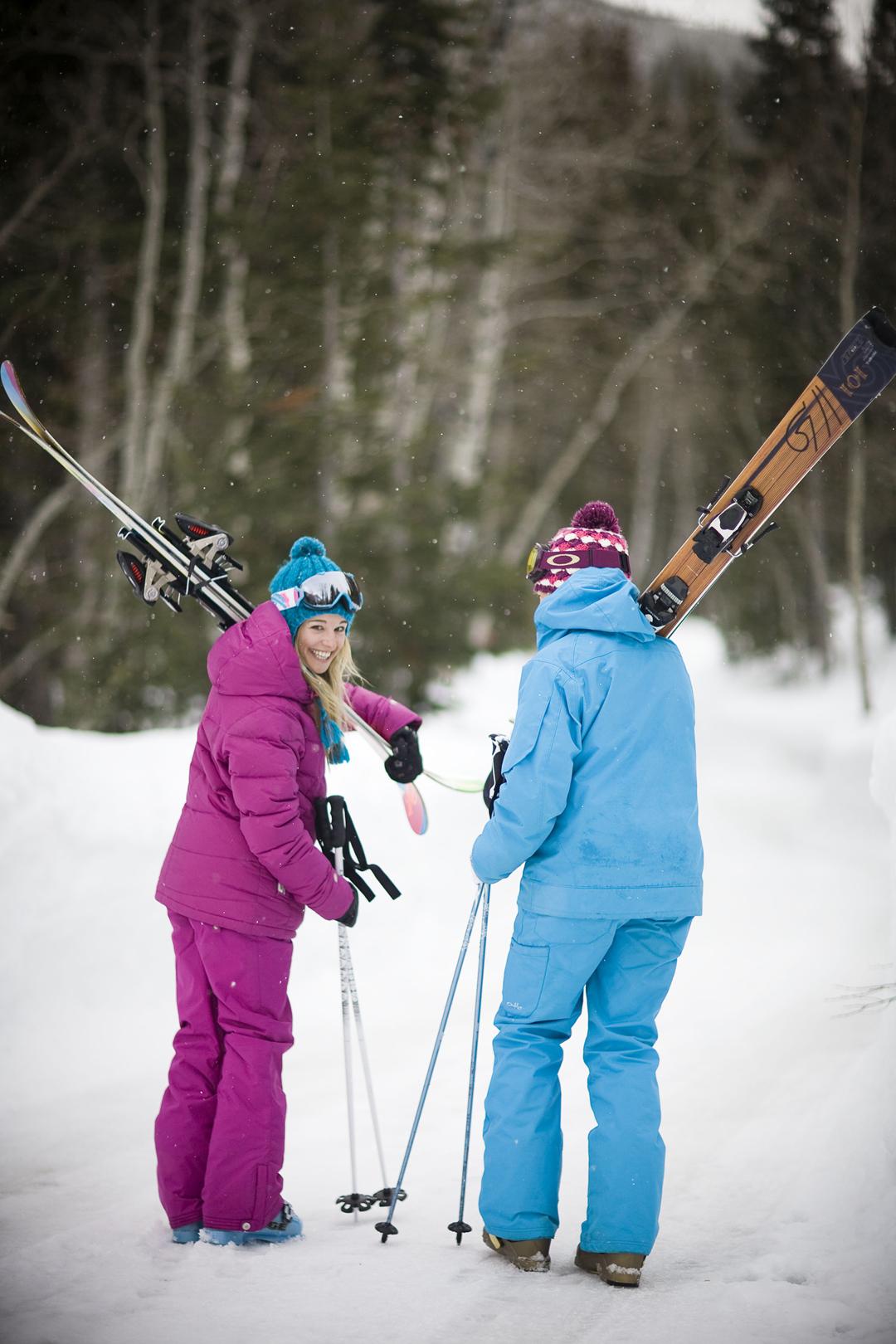 Women Skiers at Brighton