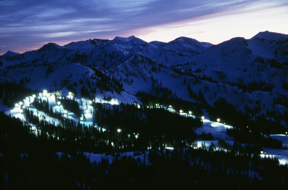 Brighton Ski Resort at Night