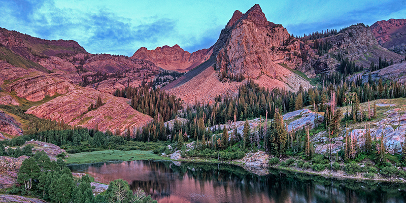 Sundial Peak aglow at sunset