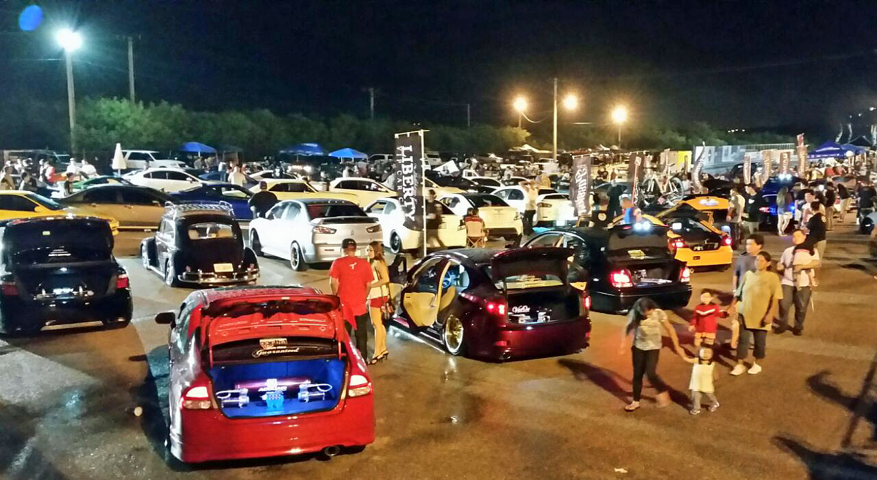 People show off their rides at the Showoff Guam Car Show