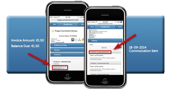 International Mobile CRM Screenshot