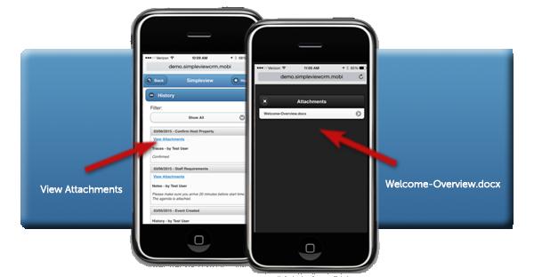 Mobile CRM Attachment Access