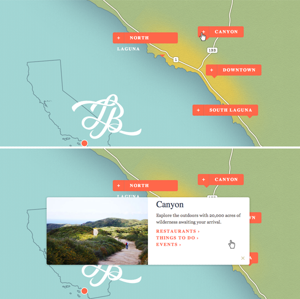 Visit Laguna Beach Custom Region Maps