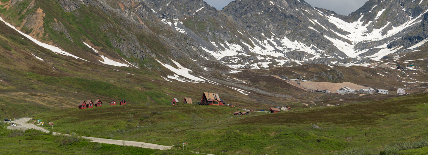 Hatcher Pass Road and Independence Mine in Mat-Su Valley Alaska
