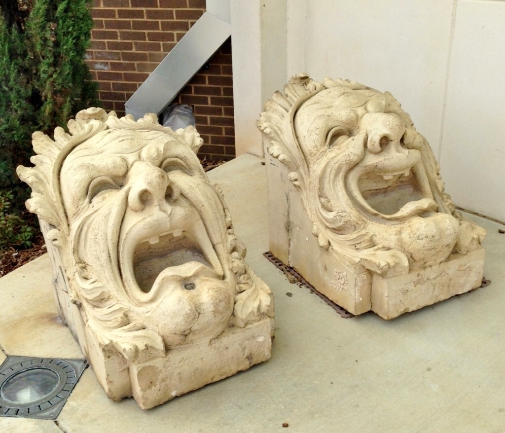 See these masks of comedy and tragedy preserved from the VBC's predecessor in the Mark C. Smith Concert Hall
