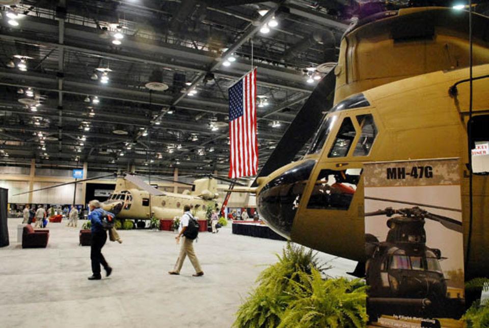 Helicopters in the Von Braun Center