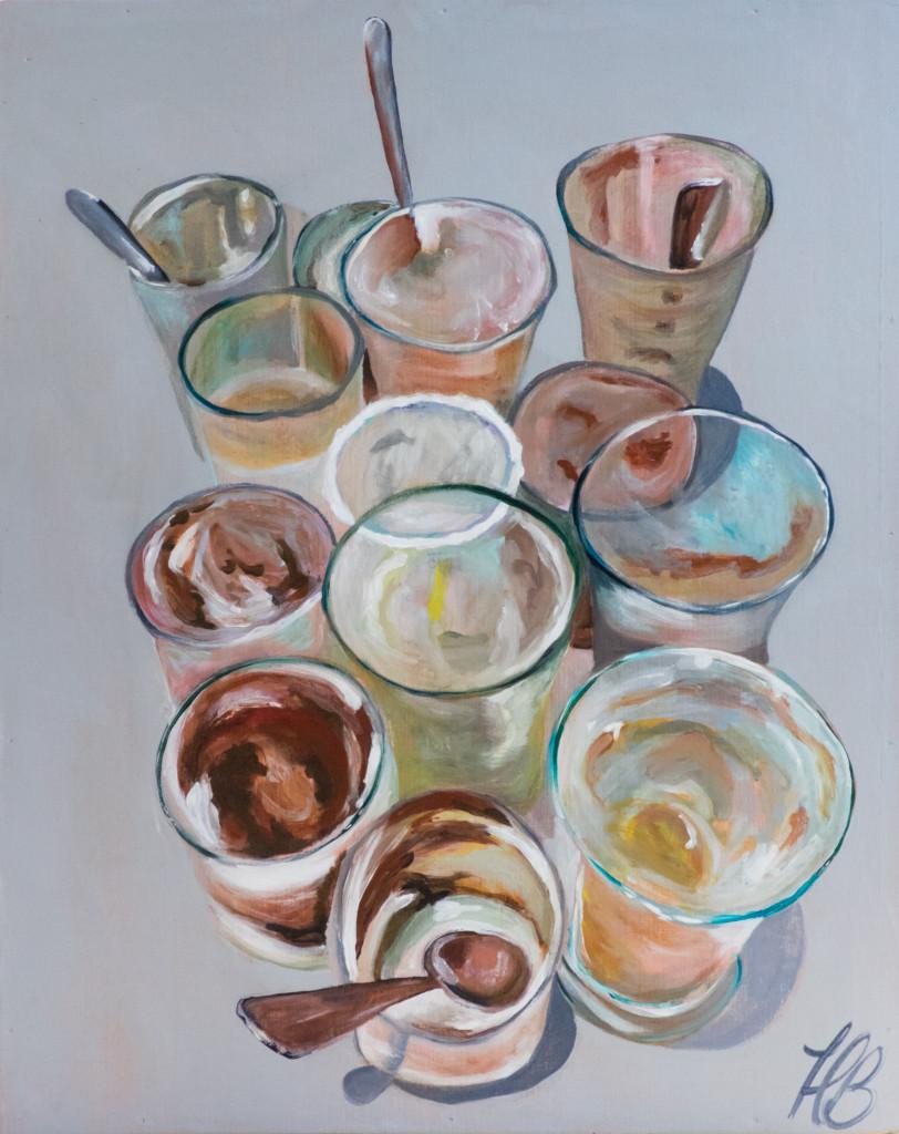 Heather Baumbach, acrylic paintings