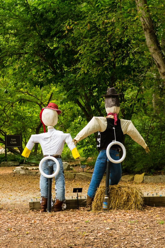 Scarecrow Trail at Huntsville Botanical Garden in Huntsville, Alabama via iHeartHsv.com
