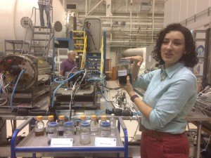 Jennifer Pruitt at ECLSS explaining the really scientificically interesting ways she is making pee into water and water into pee at Marshall Space Flight Center in Huntsville, Alabama
