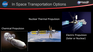 In space transportation options via Marshall Space Flight Center in Huntsville, Alabama