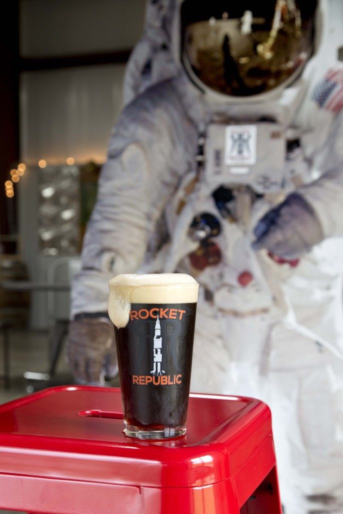 Rocket Republic Brewing's AstroNut Brown Ale via iHeartHsv.com
