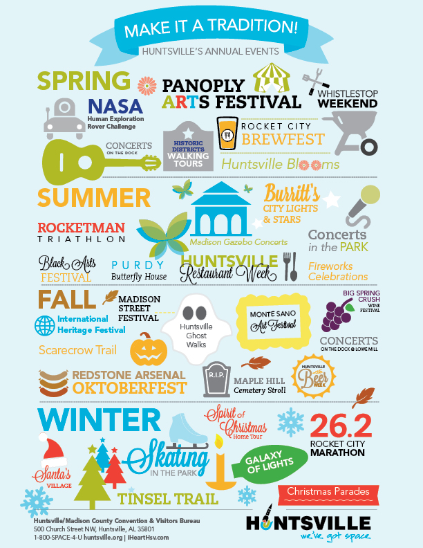 Plan your trip to Huntsville, AL around these awesome annual events