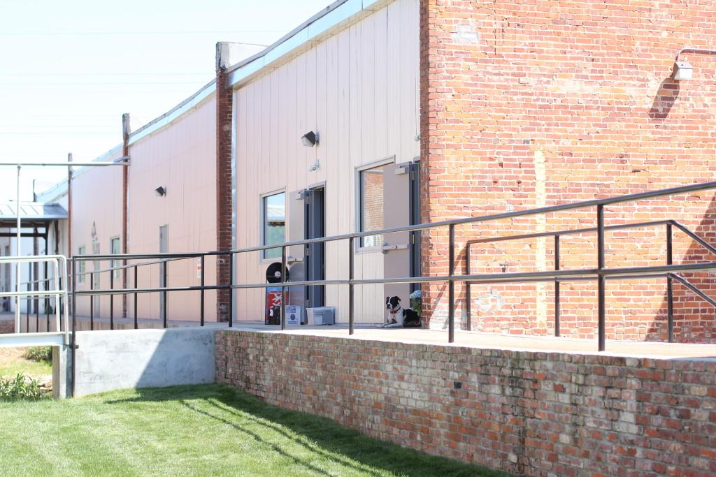 Railroad buildings at Lowe Mill ARTS & Entertainment in Huntsville, AL