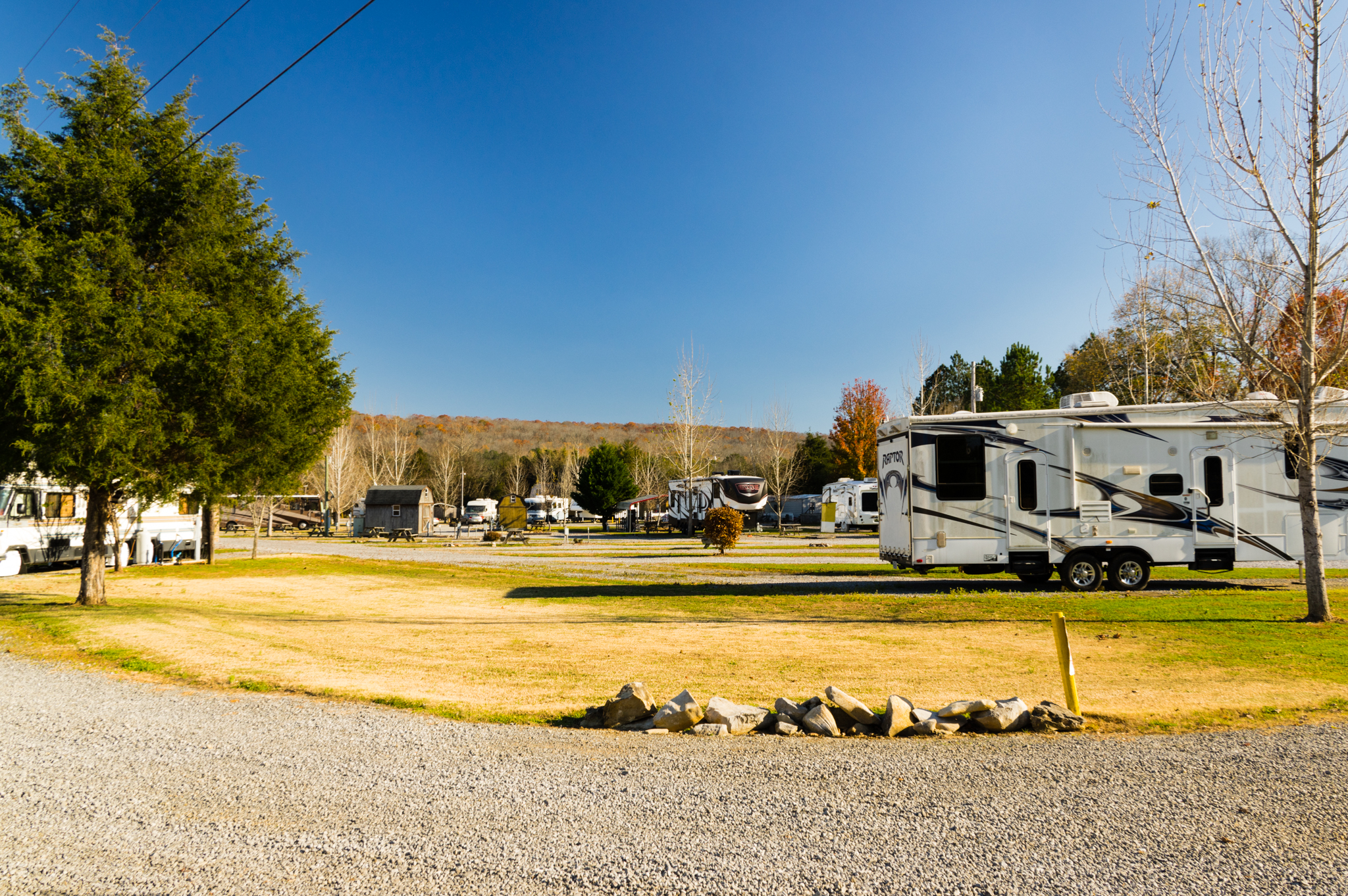 This is a photo of the RV park at Parnell Creek