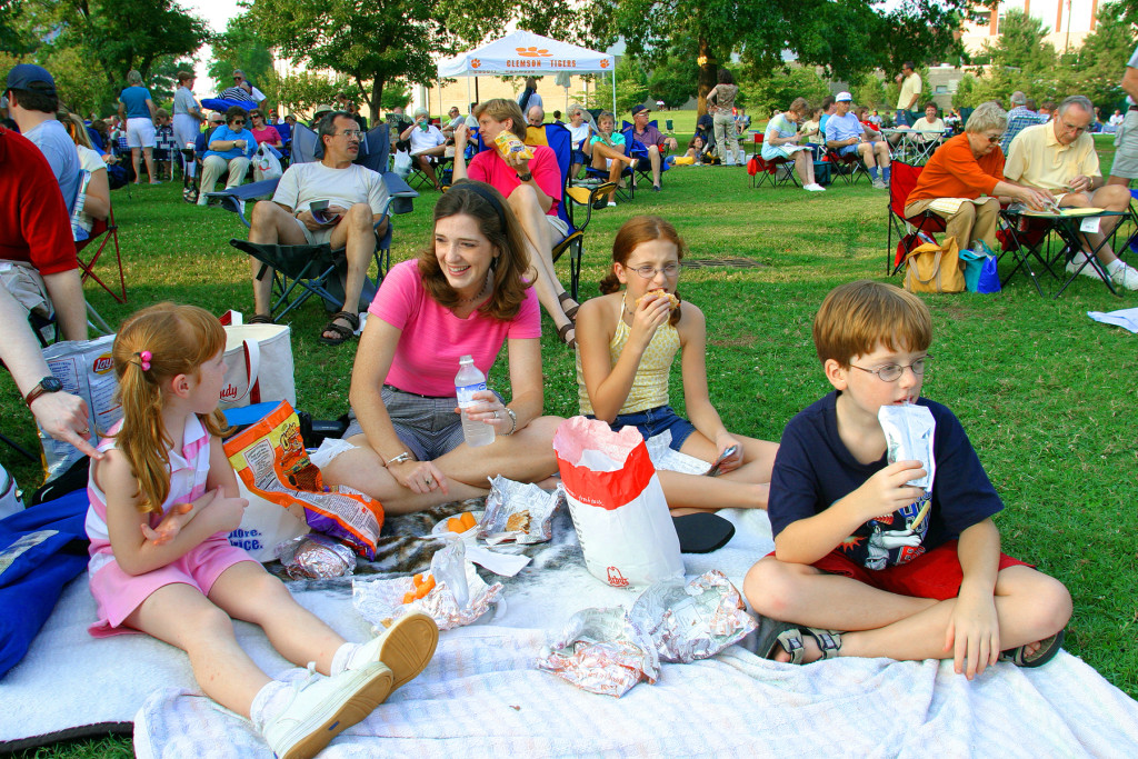 Alabama, Huntsville, Big Spring Park, weekly Concert In The Park scenes,