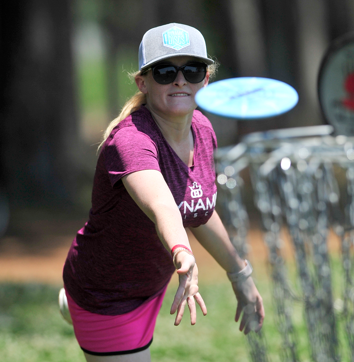 Woman Playing Disc Golf