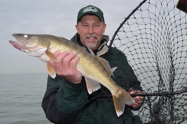 Summer Walleye Fishing on the Saginaw Bay of Lake Huron in Michigan