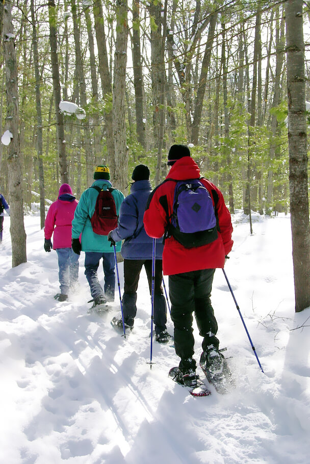Snowshoeing at Chippewa Nature Center in Midland, MI