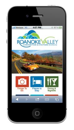 Visit Roanoke app
