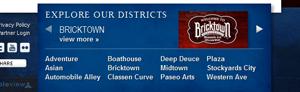 OKC site districts widget