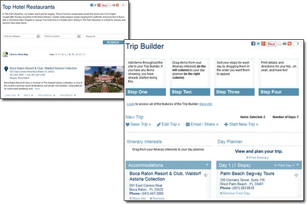 palmbeachfl.com Trip Builder