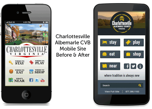 Charlottesville 2013 Mobile Before After