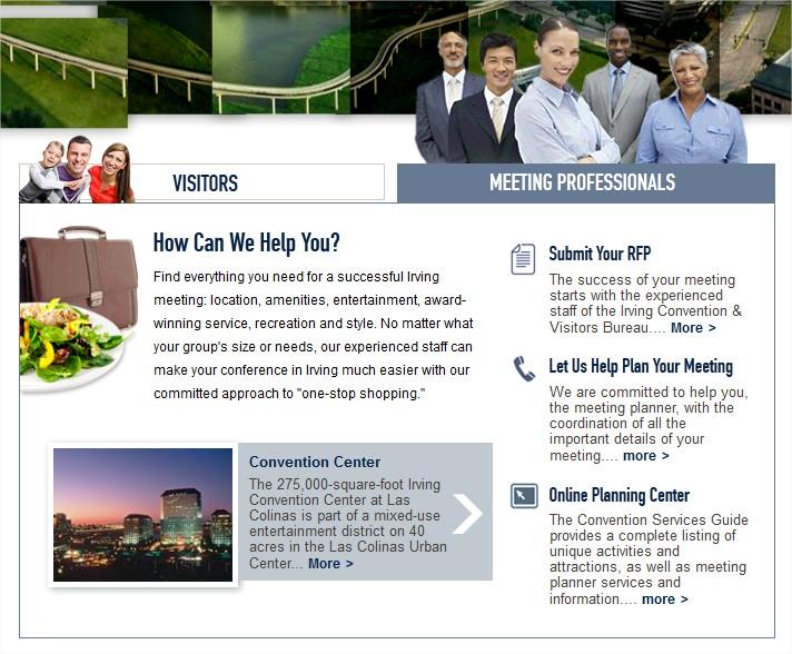 Irving Texas Site Design - March 2012 - Mega-Widget