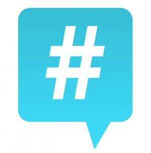 Hashtag Comic Bubble