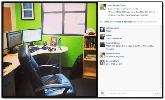 Instagram Sam Brace Office
