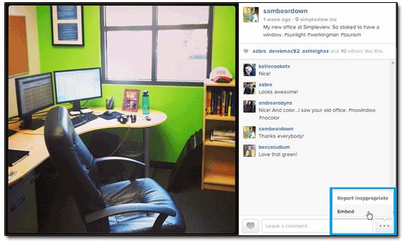 Instagram Sam Brace Office Embed