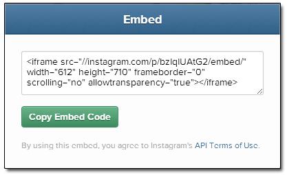 Instagram Sam Brace Office Embed Code