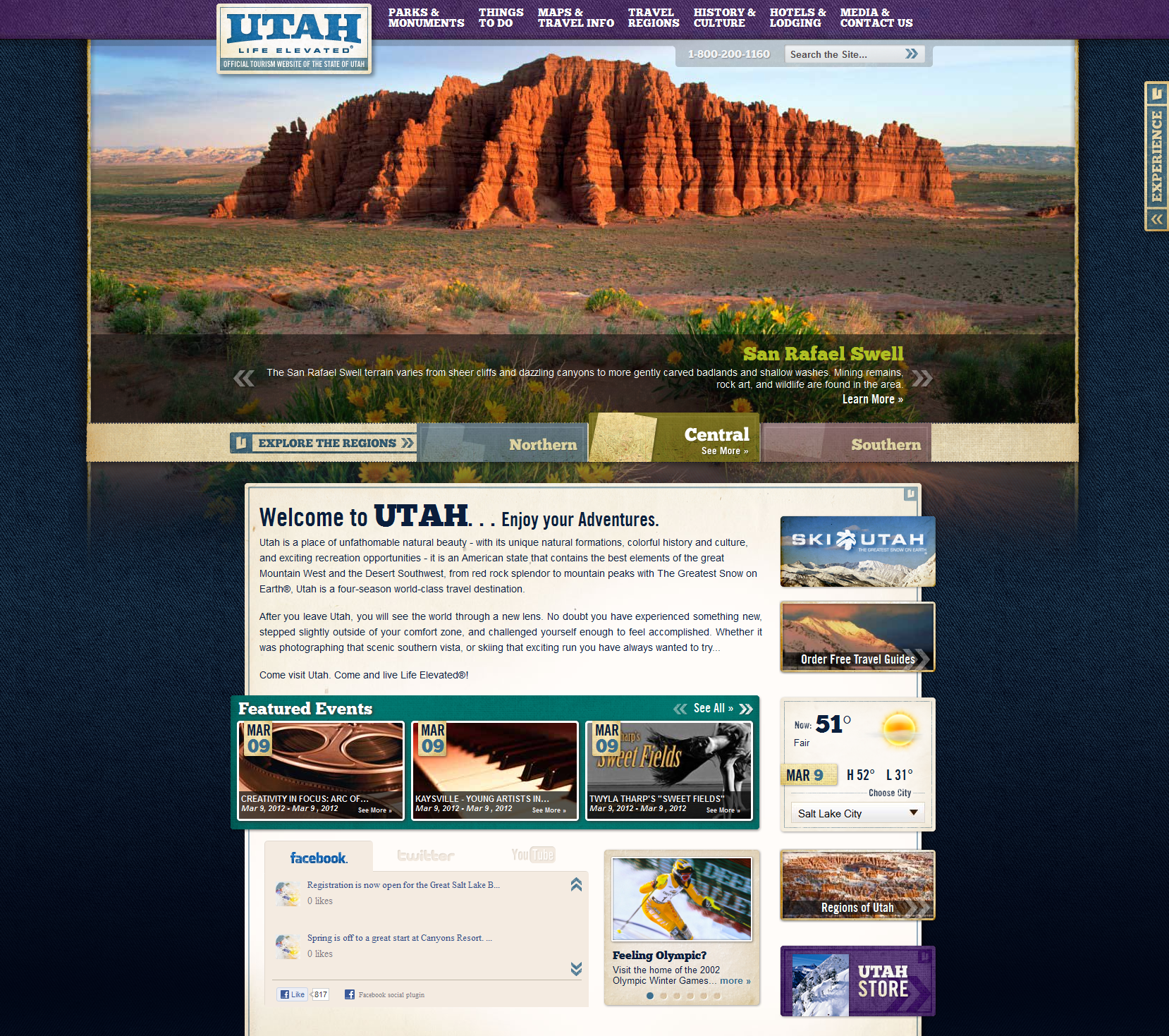 Utah Tourism Website - March 2012
