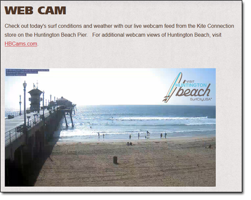 Huntington Beach Web Cam