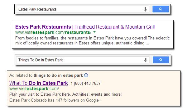 Estes Park Search Examples 2013