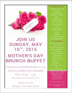 Christiana Creek Mother's Day Brunch