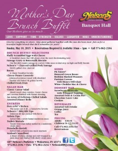 Nelson's Mother's Day Buffet