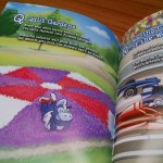 """Elkhart County's Quilt Gardens are featured in a page from """"Blue's Road Trip through Indiana."""""""