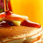 Pancakes and sausage are a staple at the Wakarusa Maple Syrup Festival.