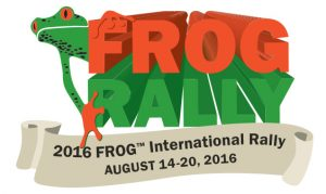 The logo for the 2016 FROG Rally.