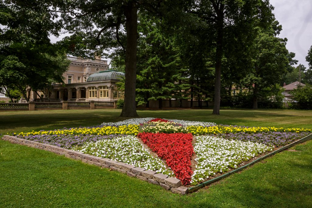 This 2016 Quilt Garden is located adjacent to Ruthmere Museum in Elkhart.