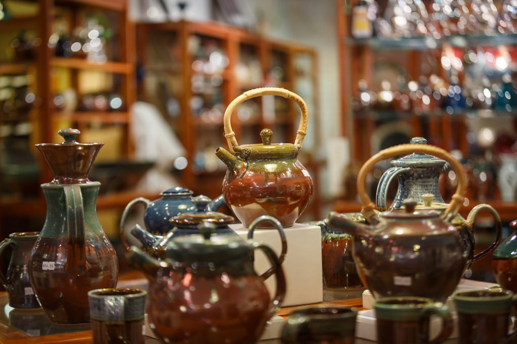 The pottery from Goertzen Pottery is gorgeous and functional.