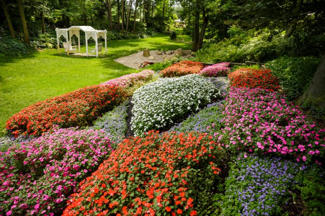 The Quilt Garden at Krider World's Fair Garden is one of three in the Middlebury area.