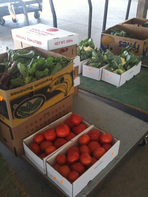 You know the fruits and vegetables are fresh at the Wakarusa Produce Auction. Often, the produce is picked that morning and loaded on trucks for that afternoon's auction. (Photo by Amy Wenger)