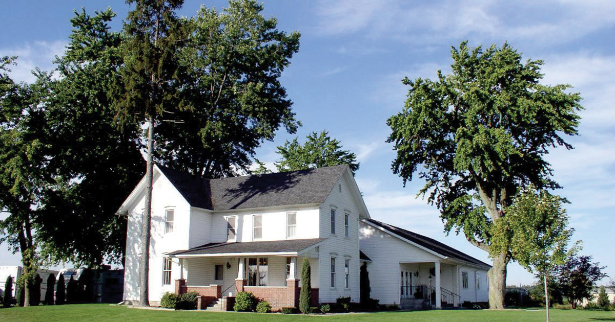 Farmhouse in Elkhart County turned into the Jayco Visitor Center
