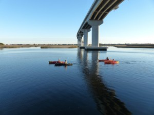 kayaks at bridge SB