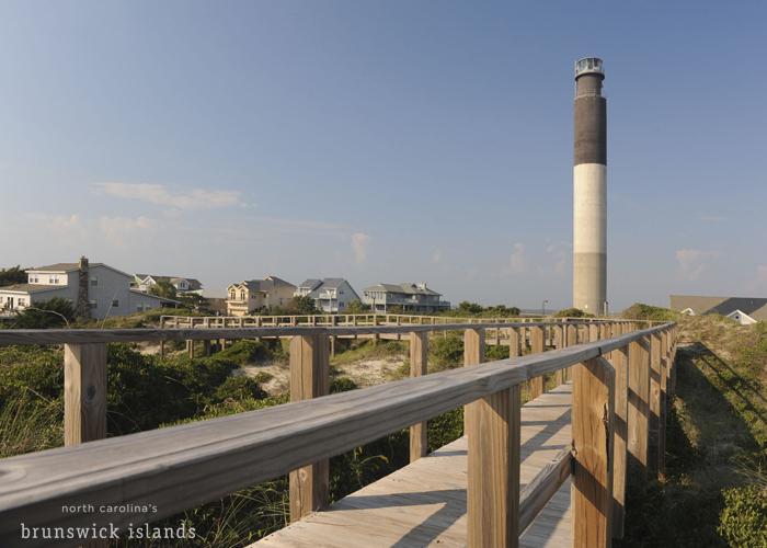 Caswell Beach Oak Island Lighthouse