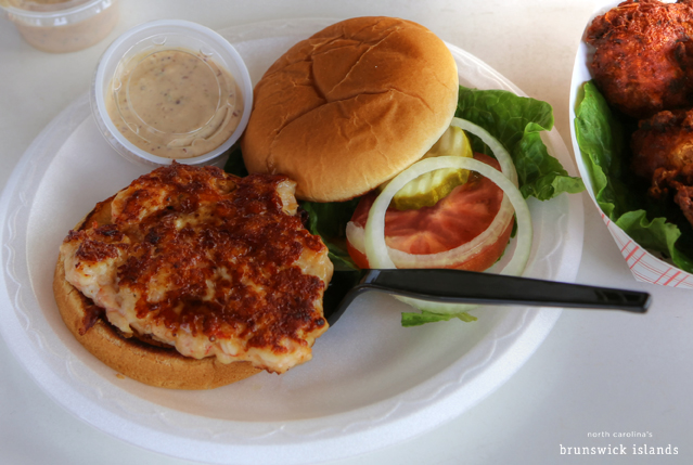 Shrimp Burger Holden Beach Provisions