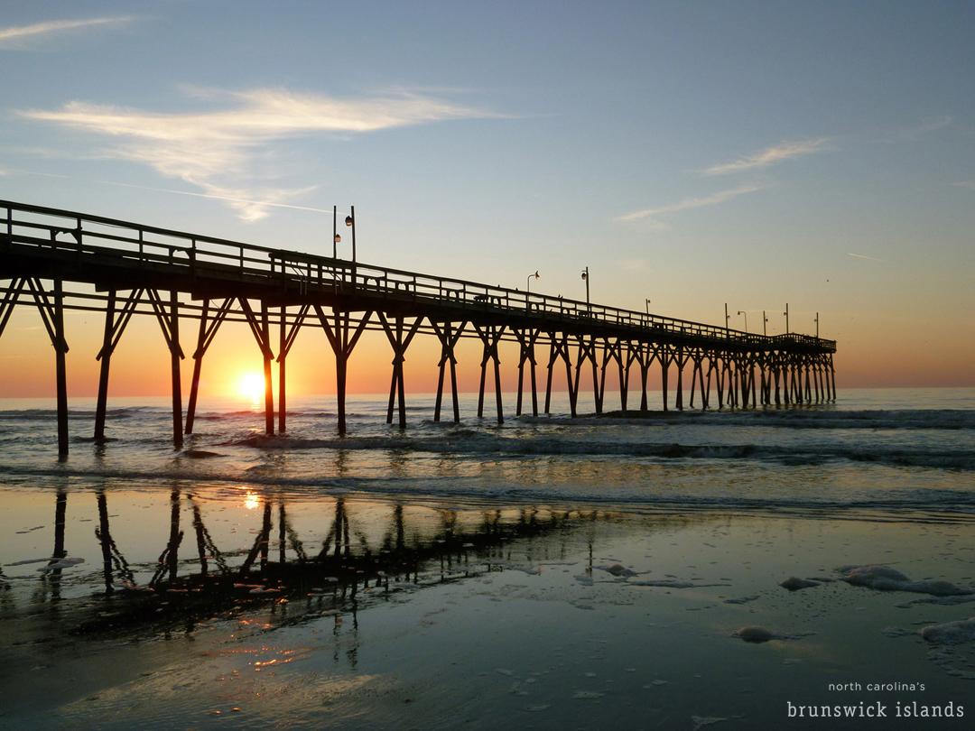Sunrise Sunset Beach Pier