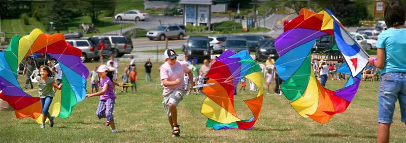 Kids of all ages fly kites at Beech Mtn. each Labor Day weekend