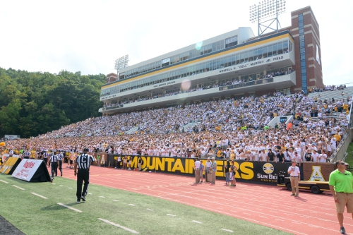 Mountaineer Football in Kidd-Brewer Stadium